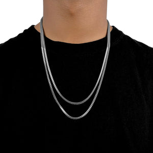 FRANCO CHAIN WHITE GOLD 2,5MM - ICED DRIP JEWELRY - jetzt kaufen!