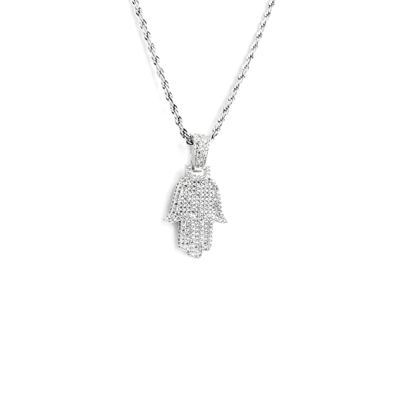 ICED DRIP NEW HAMSA [WHITE | YELLOW] GOLD - ICED DRIP JEWELRY