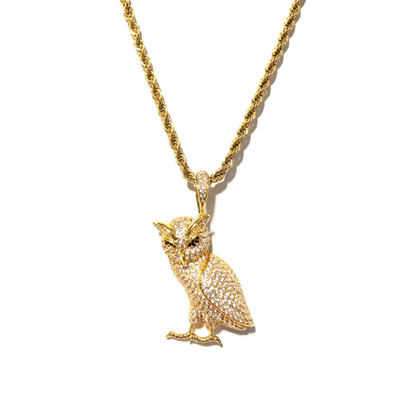 ICED DRIP WISE OWL [WHITE | YELLOW] GOLD - ICED DRIP JEWELRY - jetzt kaufen!