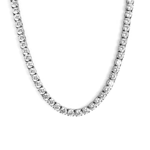 TENNIS CHAIN WHITE GOLD 6MM - ICED DRIP JEWELRY