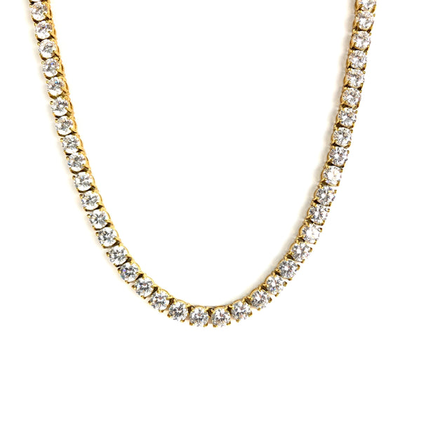6MM TENNIS CHAIN [WHITE | YELLOW] GOLD - ICED DRIP JEWELRY