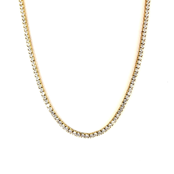 4MM TENNIS CHAIN [WHITE | YELLOW] GOLD - ICED DRIP JEWELRY