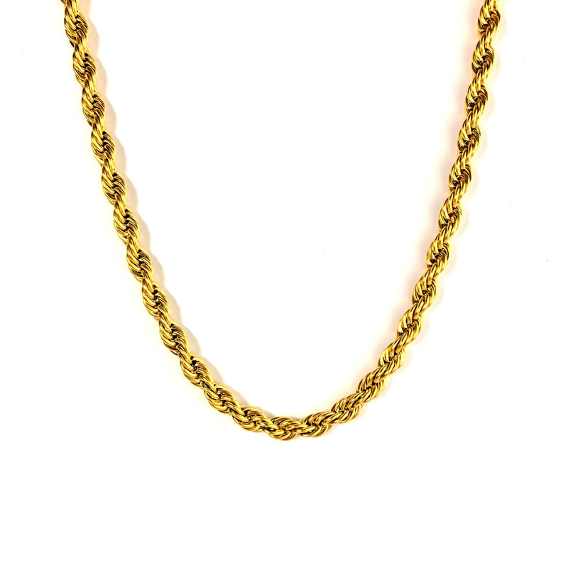 6MM ROPE CHAIN [WHITE | YELLOW] GOLD - ICED DRIP JEWELRY
