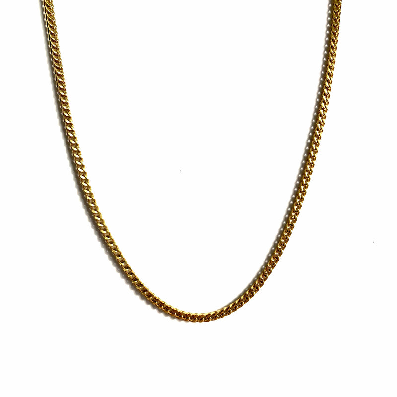 2,5MM FRANCO CHAIN [WHITE | YELLOW] GOLD - ICED DRIP JEWELRY - jetzt kaufen!