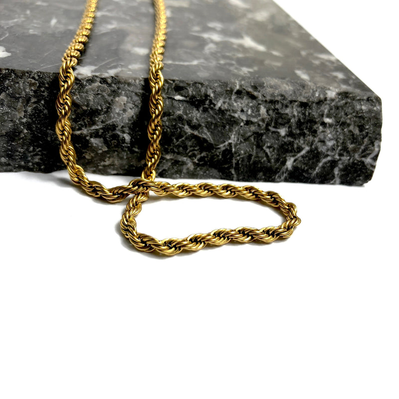 3MM ROPE CHAIN [WHITE | YELLOW] GOLD - ICED DRIP JEWELRY
