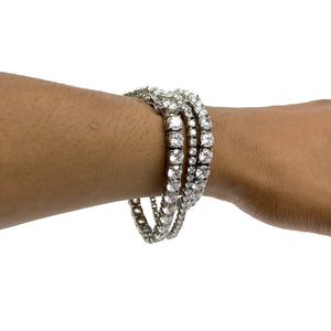 TENNIS BRACELET WHITE GOLD 4MM - ICED DRIP JEWELRY