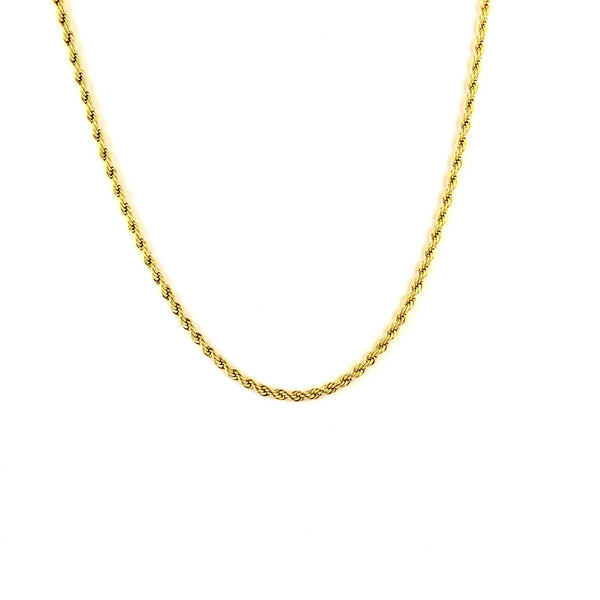 2,5MM ROPE CHAIN [WHITE | YELLOW] GOLD - ICED DRIP JEWELRY
