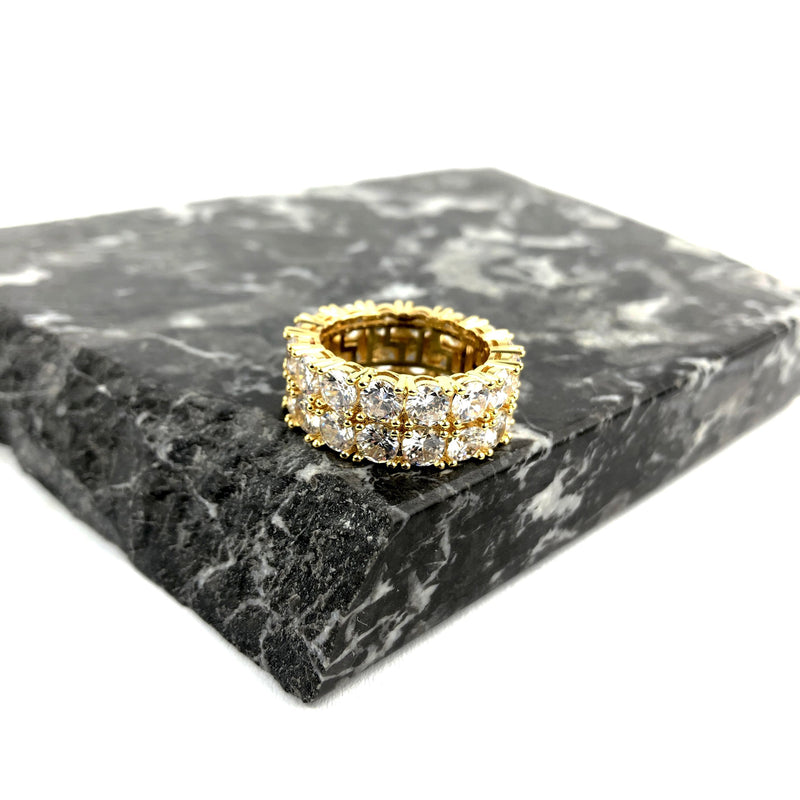 ICED DRIP TENNIS RING [WHITE | YELLOW] GOLD - ICED DRIP JEWELRY