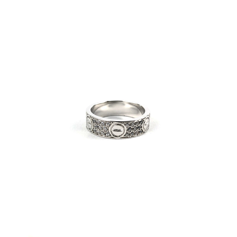 ICED DRIP SCREW RING [WHITE] GOLD - ICED DRIP JEWELRY