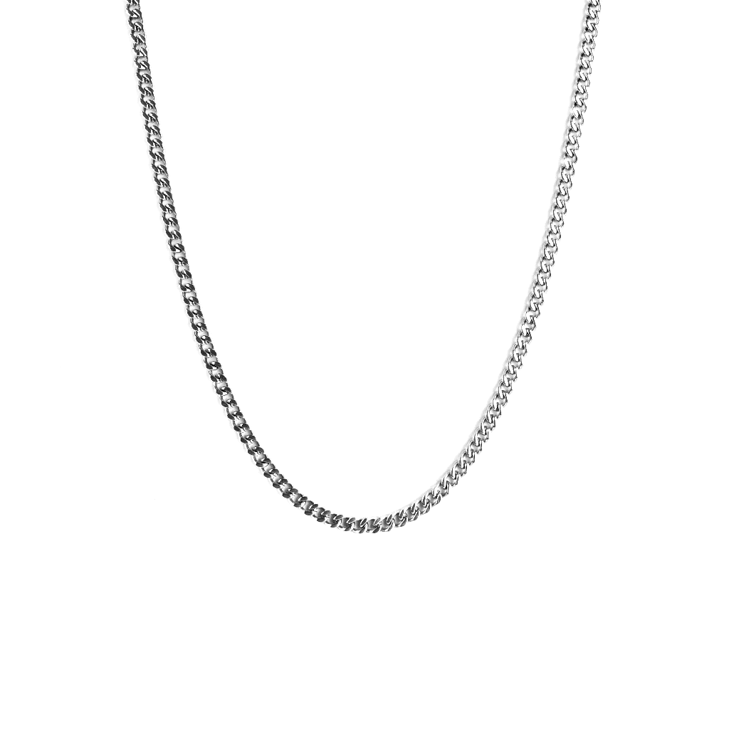 MIAMI CUBAN CHAIN WHITE GOLD 3MM - ICED DRIP JEWELRY - jetzt kaufen!