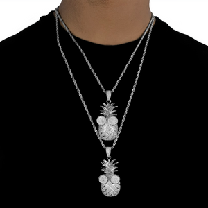ICED DRIP ANANAS WHITE GOLD - ICED DRIP JEWELRY