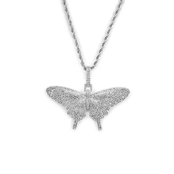 ICED DRIP BUTTERFLY [WHITE] GOLD - ICED DRIP JEWELRY