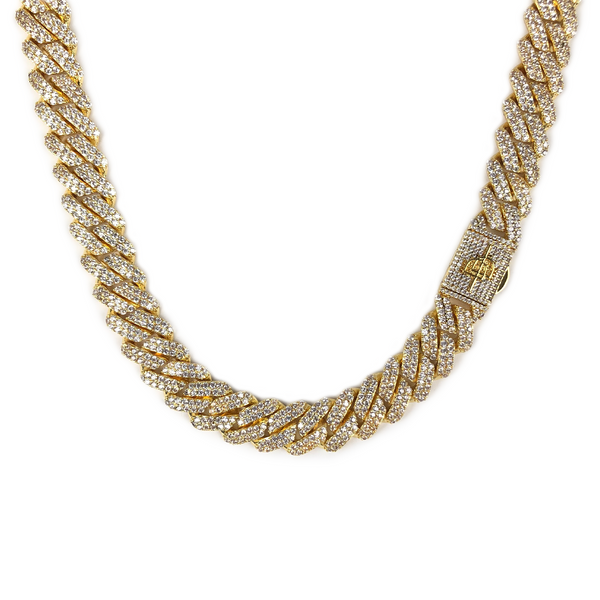 12MM PRONG CUBAN LINK CHAIN [WHITE | YELLOW] GOLD - ICED DRIP JEWELRY - jetzt kaufen!