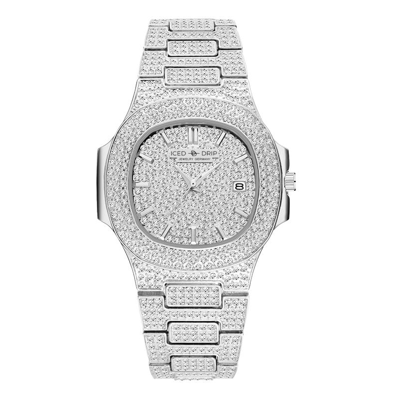 ICED OUT UHR 38MM | PREMIUM BOX - ICED DRIP JEWELRY - jetzt kaufen!