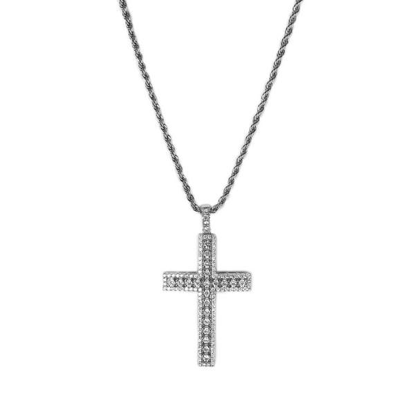 ICED DRIP BIG CROSS [WHITE | YELLOW] GOLD - ICED DRIP JEWELRY - jetzt kaufen!