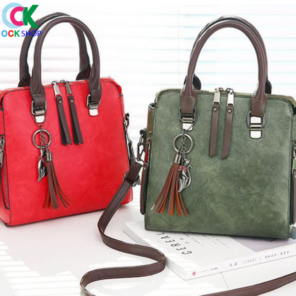 CY TOTES TASSEL LEATHER  BAGS