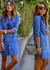 Ava Pristine Denim Shirtdress