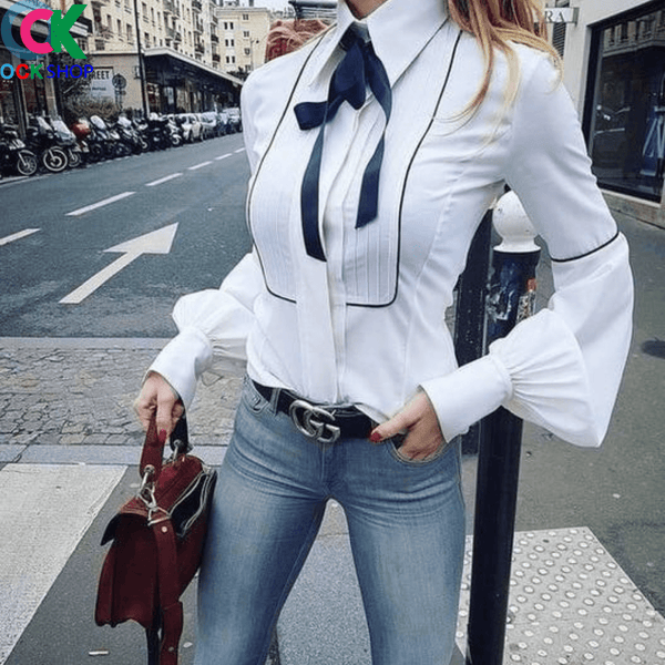 Hollywood Blouse - Bow