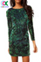 Sexy Mia Green Sequin Dress