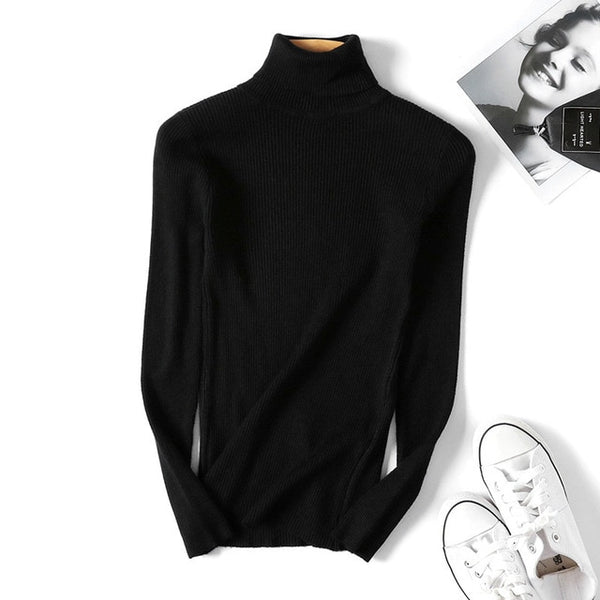 PULKER STRIPPED TURTLE NECK
