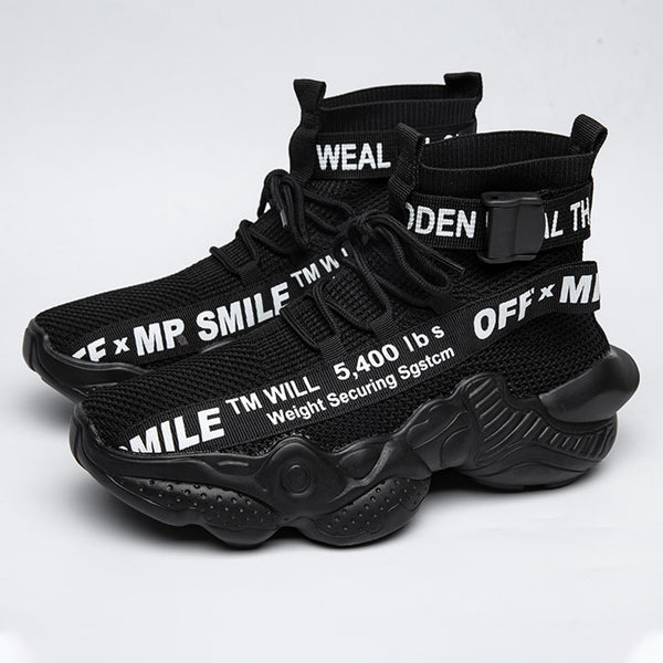 ELGER TM WILL OFF WHITE HIGH TOP SNEAKERS