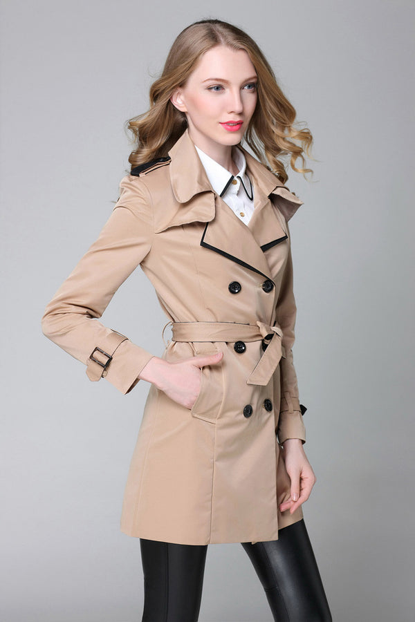 Kyllie Cropped Trench Coat
