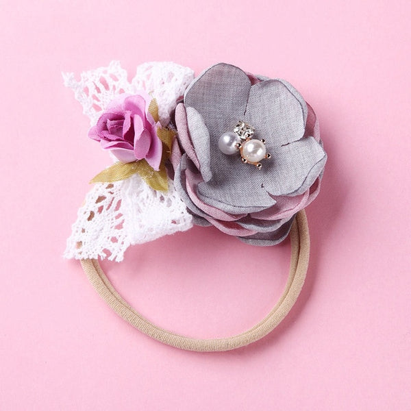 BIG FLORAL ELASTIC HEADBAND