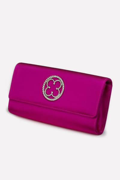 Hot Pink Clutch - Side Shot