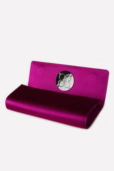 Hot Pink Clutch - Interior