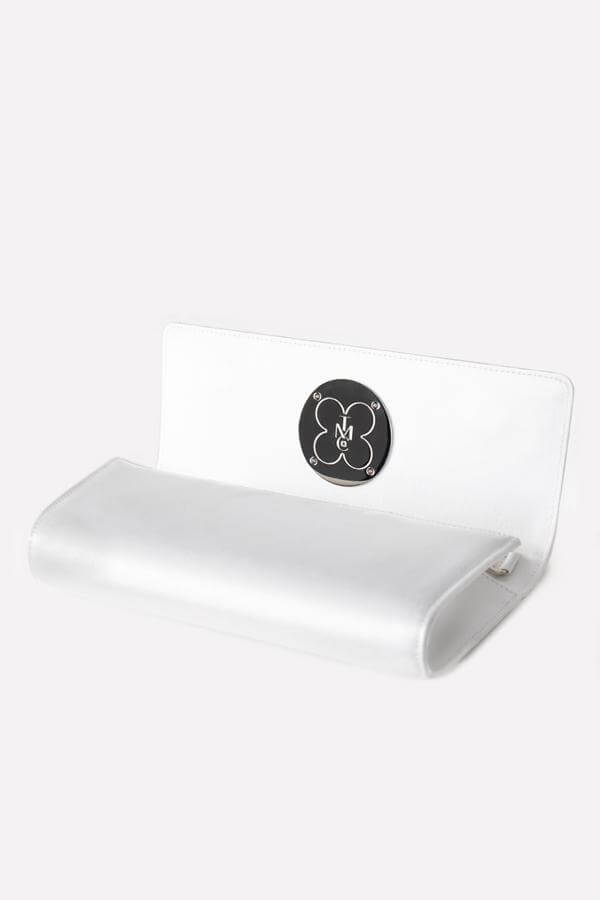 White Bridal Clutch - Interior