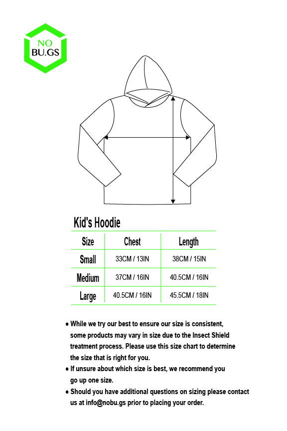 NoBu.gs® Insect Repellent Children's Hoodie