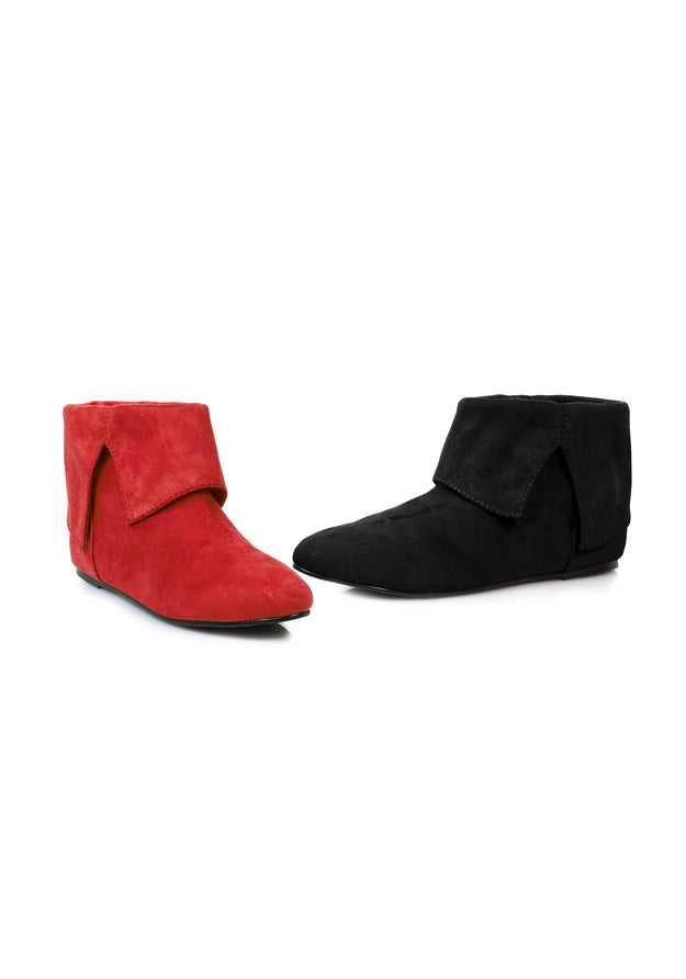 0 Microfiber Boot.(Blk-Left Red-Right)