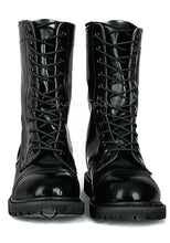 Load image into Gallery viewer, Mens Combat Lace Up Faux Leather