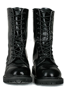Mens Combat Lace Up Faux Leather