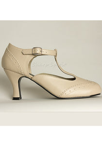 1920s Cream Flapper Shoes