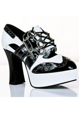 "Load image into Gallery viewer, 4"" Heel Gangster Brass Knuckle Platform Shoes"