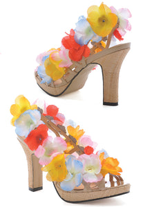Colorful Bohemian Flower Open Sandals