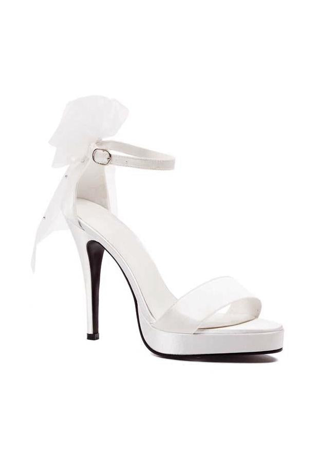 4.5 Bride Sandal with veil on back of shoe.