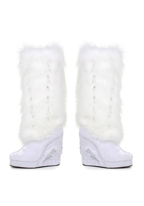 4 Inch Light Up Platform And Fur