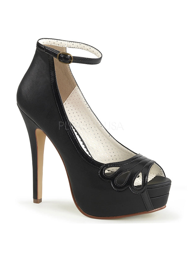 5 1/4 High Heel Pumps w Ankle Strap