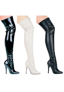 5 Heel Thigh High Stretch Boot.