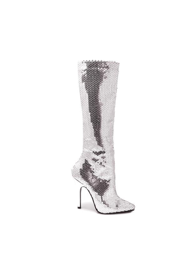 5 Heel Sequins Knee Boot.