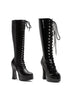 5 Heel Stretch Knee Boot W/Innerzipper.