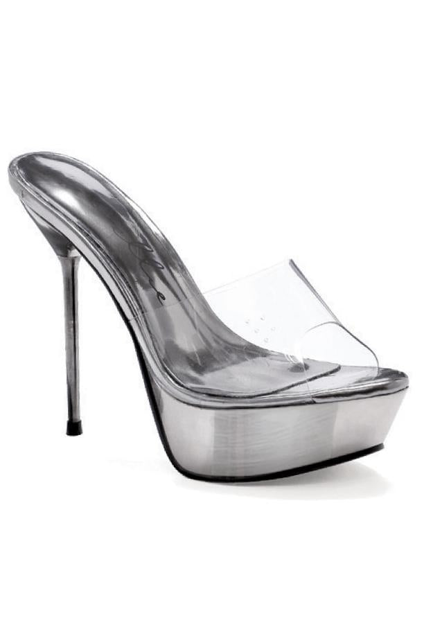 5 Metallic Stiletto Heel Platform Mule