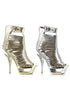 6 Metallic Cut Out Heel