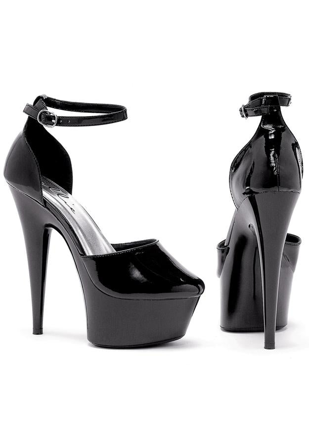 6 Pointed Stiletto Pump W/Ankle Strap.