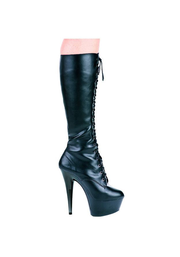 6 Pointed Stiletto Knee Boot W/Inner Zipper.