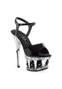 6 ANKLE STRAP W/ DISCO BALL IN PLATFORM