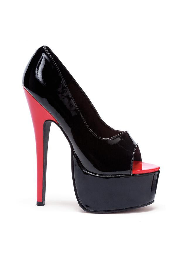 6.5 Stiletto Heel Open Toe Pump.