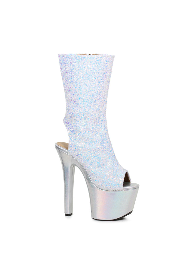 7 Inch Glitter Ankle Boot